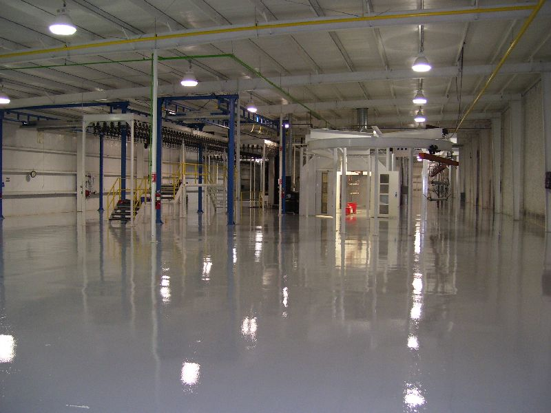 Texas Hydraulics Paint Booth Bldg Floors